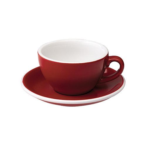 Cappuccinotasse EGG 200 ml Rot, inkl. Unterteller