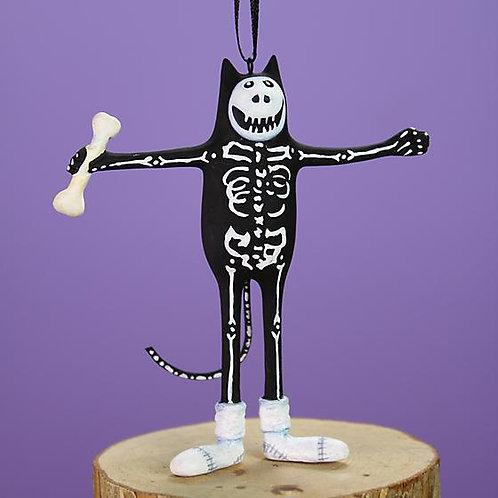 HALLOWEEN MINI ORNAMENT - Boney Cat