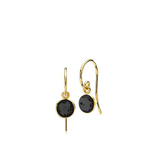 PRIMA DONNA OHRRINGE SMALL Silber vergoldet - Onyx