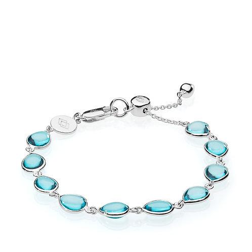 ANNABELLA ARMBAND Silber - Aqua Quarz