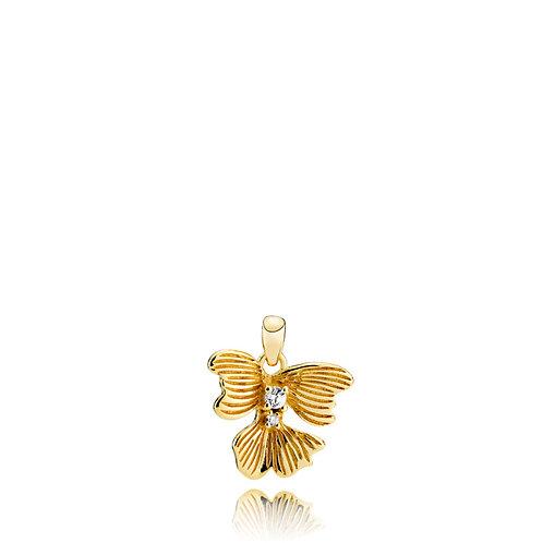 VIOLET ANHÄNGER Silber vergoldet - Kristallglas