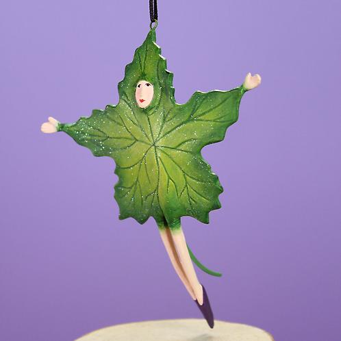 HALLOWEEN MINI ORNAMENT - Green Leaf