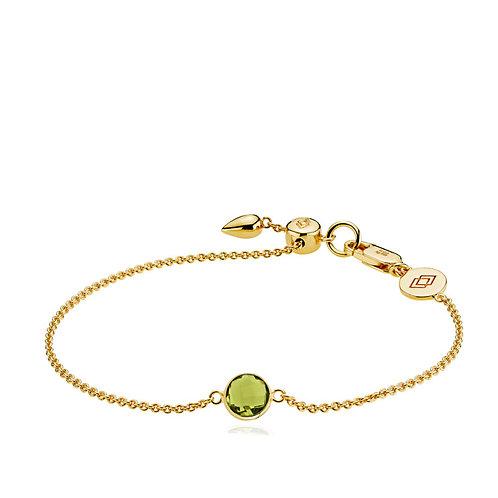 PRIMA DONNA ARMBAND Silber vergoldet - Peridotgrüner Quarz