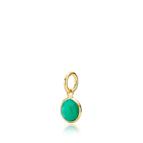 PRIMA DONNA ANHÄNGER SMALL Silber vergoldet - Grüner Onyx