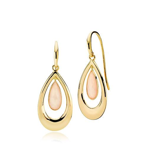 IMPERIAL OHRRINGE Silber vergoldet - Rosa Chalzedon