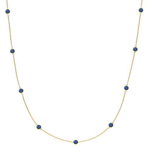 PRIMA DONNA HALSKETTE Silber vergoldet -Royalblauer Doublet Quarz