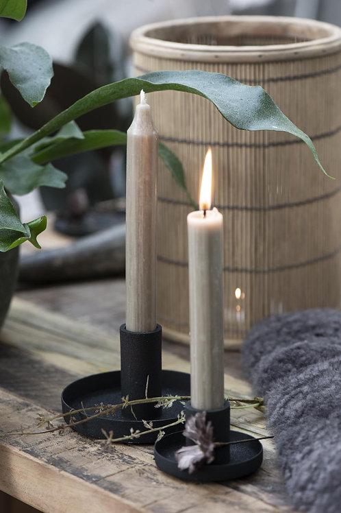 Kerzenhalter rund für Stabkerzen SCHWARZ Ø 11 cm