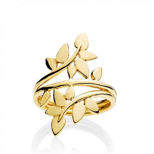 POETRY RING LARGE Silber vergoldet