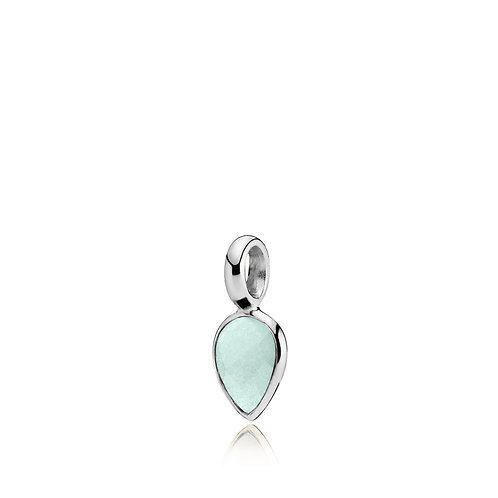DROPPIE ANHÄNGER Silber - Aqua Kristall