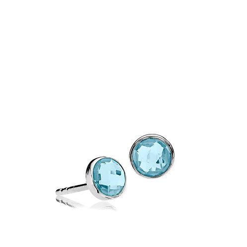 PRIMA DONNA OHRSTECKER Silber - blauer Doublet Quarz