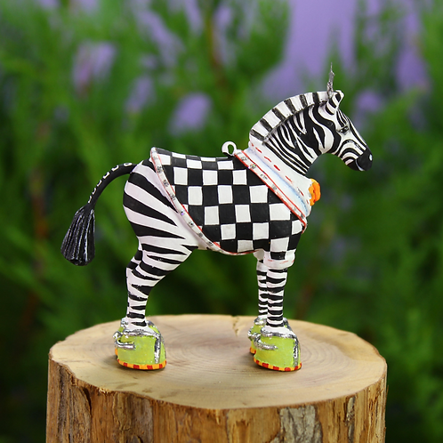 JAMBO! MINI ORNAMENT  - Zeke Zebra