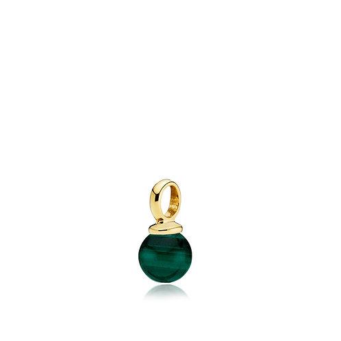 NEW PEARLY ANHÄNGER Silber vergoldet - Grüner Malachit