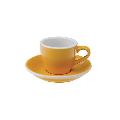 Espressotasse EGG 80 ml Gelb, inkl. Unterteller