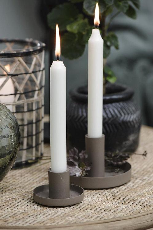 Kerzenhalter rund für Stabkerzen MILKY BROWN Ø 11 cm