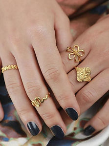 SANIYA - Ring shiny gold pl. Silver  4.j