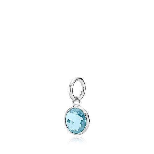 PRIMA DONNA ANHÄNGER SMALL Silber - Blauer Doublet Quarz