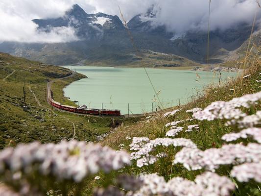 Bernina Glaciers – Hop-on/Hop-off-Sightseeing mit der Rhätischen Bahn (RhB)