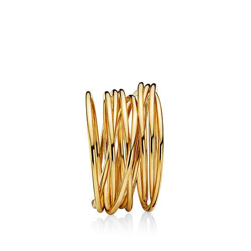 UNIVERSE RING Silber vergoldet