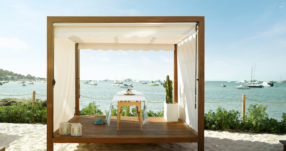 Spa Cabana mit Ausblick – renovierter Ibiza Bay Spa by Six Senses ©Nobu Hotel Ibiza Bay