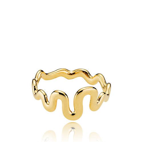 SANIYA RING Silber vergoldet