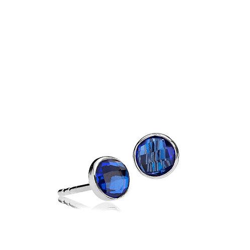 PRIMA DONNA OHRSTECKER Silber - Royalblauer Doublet Quarz