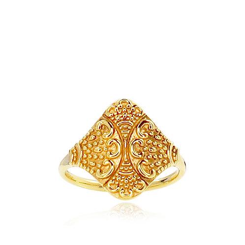 BOHEMIAN RING Silber vergoldet