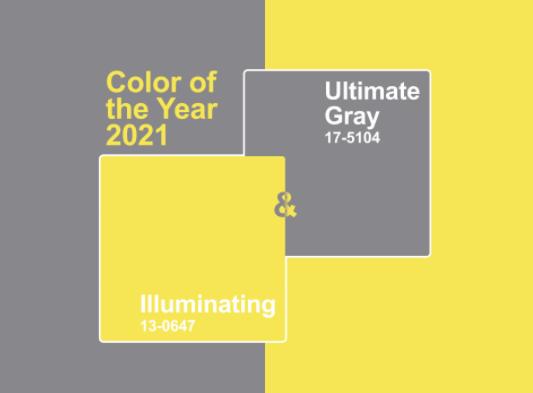 Pantone Color of the year 2021 -Ein Ensemble mit einer ermutigenden Botschaft von Kraft und Hoffnung