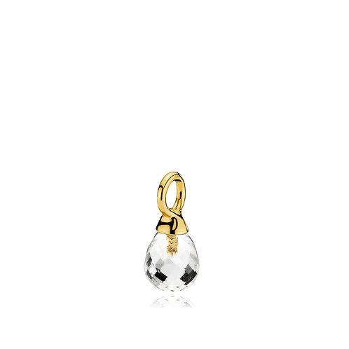 WONDER DROP ANHÄNGER Silber vergoldet - Bergkristall