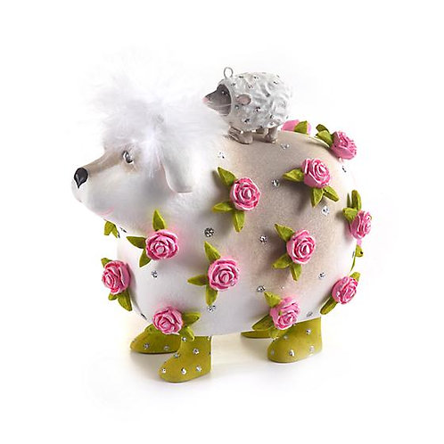 DOGS ORNAMENT - Willow Working Sheepdog & Lamb