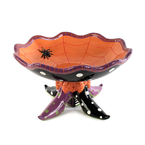 HALLOWEEN ACCESSOIRES - Witch's Shoe Footed Bowl