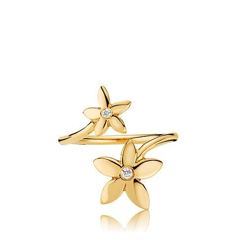 DAISY RING Silber vergoldet