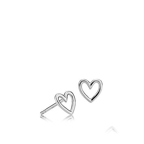 LOVE OHRSTECKER Silber