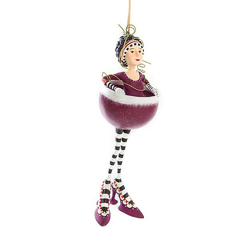 COCKTAIL ORNAMENT - Ruby Red Wine Girl