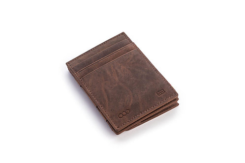 Portemonnaie «münz-wunderbörse» gebürstetes Leder braun