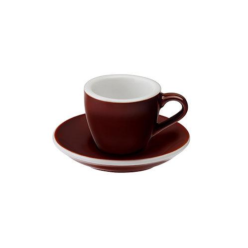 Espressotasse EGG 80 ml Braun, inkl. Unterteller