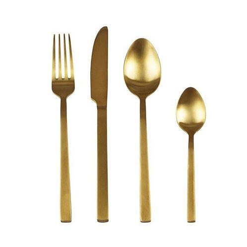 Besteck-Set Gold 16-teilig