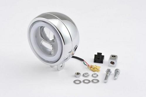 Phare LED Daytona Chromé fixation centrale ou latérale