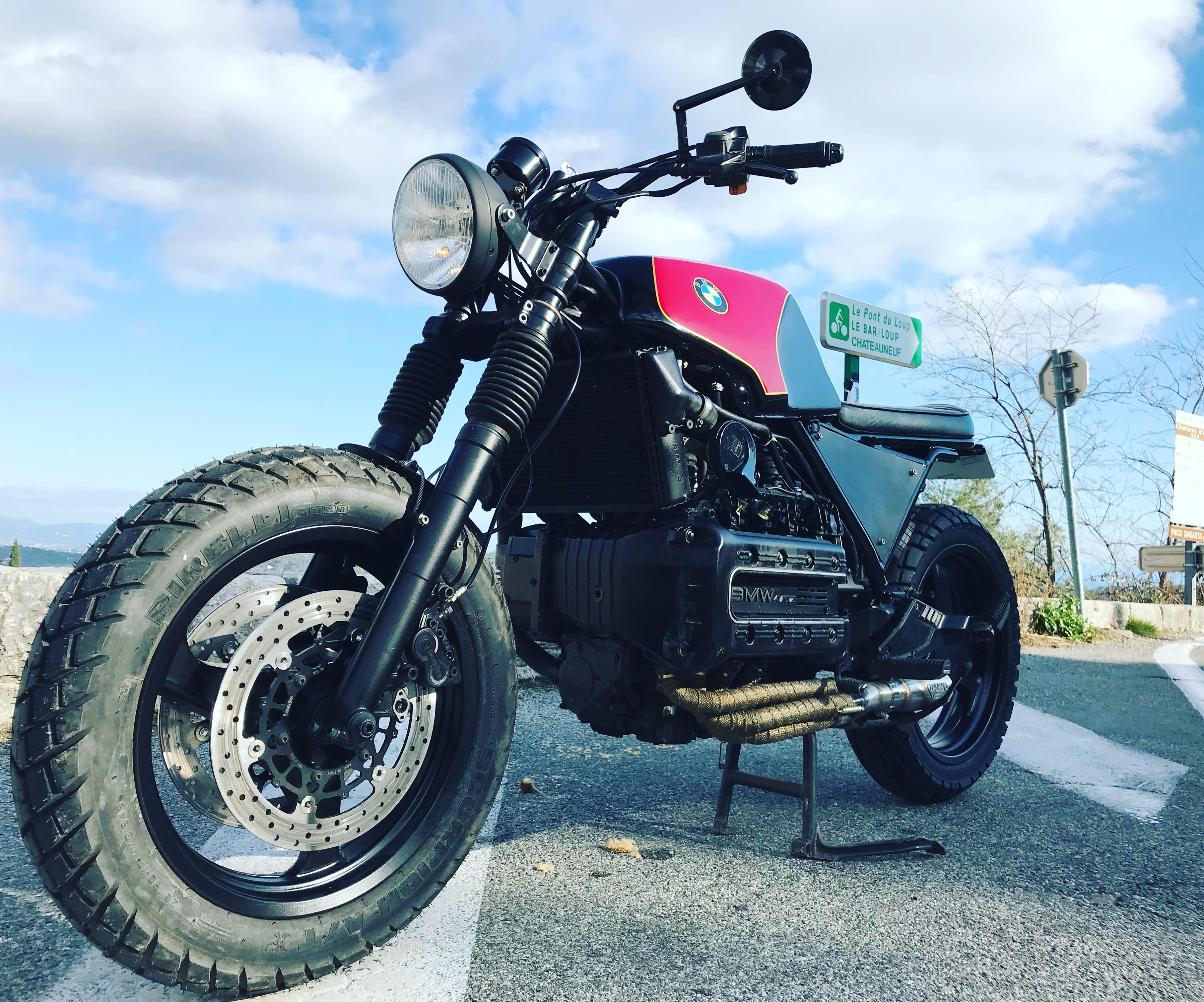 bmw K100 scrambler duke motorcycles