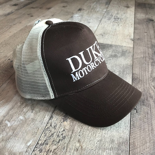 Casquette duke motorcycles chocolat