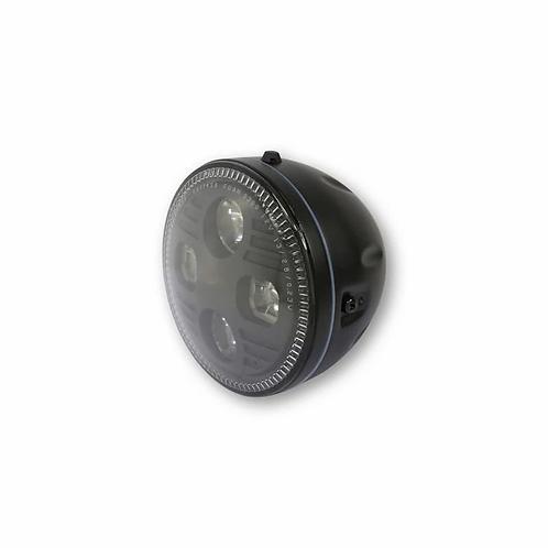 Phare LED HIGHSIDER Atlanta noir diamètre 145mm