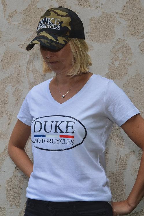 t-shirt duke motorcycles femme