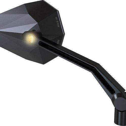 Retroviseur Stealth- x2 Highsider avec clignotants intégrés, Homol.E