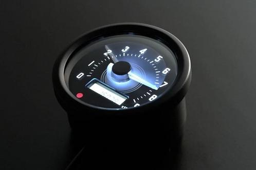 Compte tour Noir Daytona 60mm 9 000tr avec shiftlight
