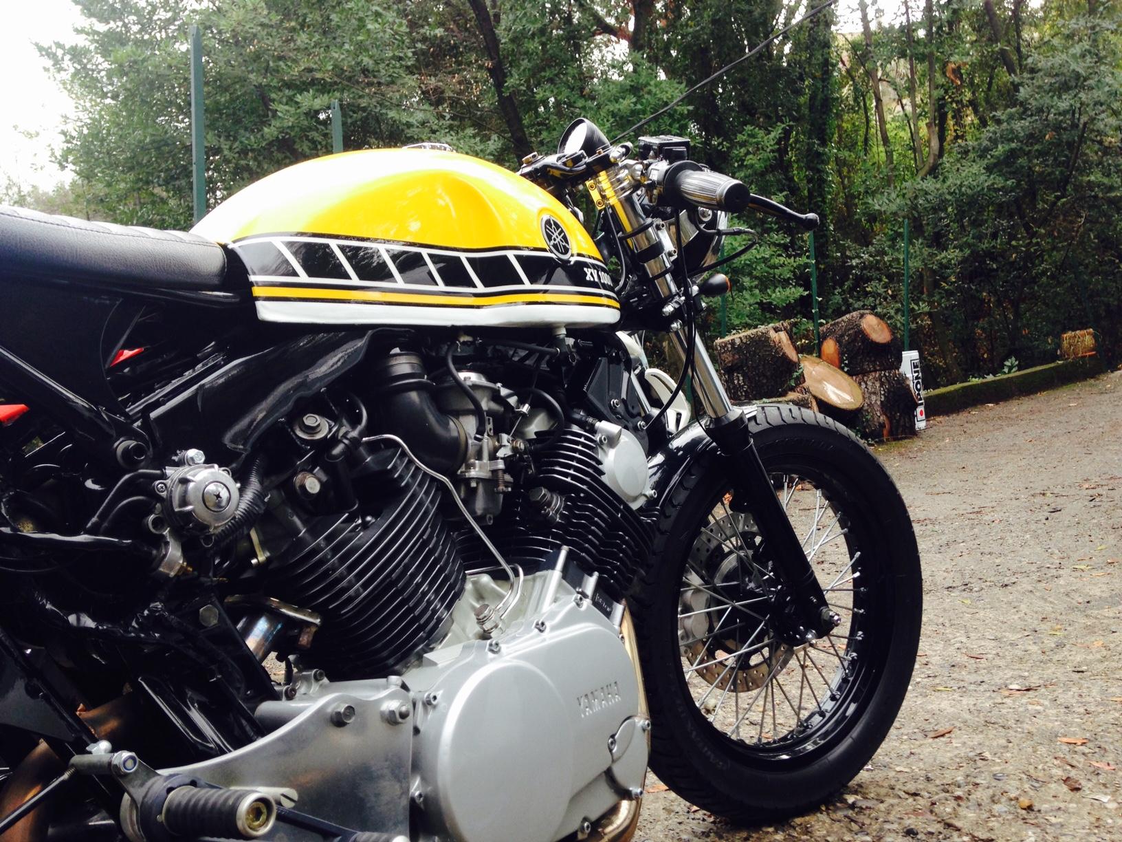 virago yamaha cafe racer duke motorcycles