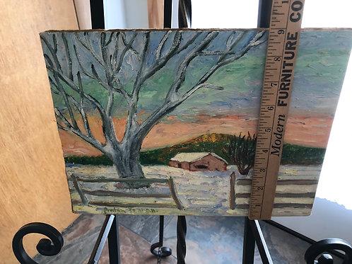Anton Pearson Farm Scene Painting