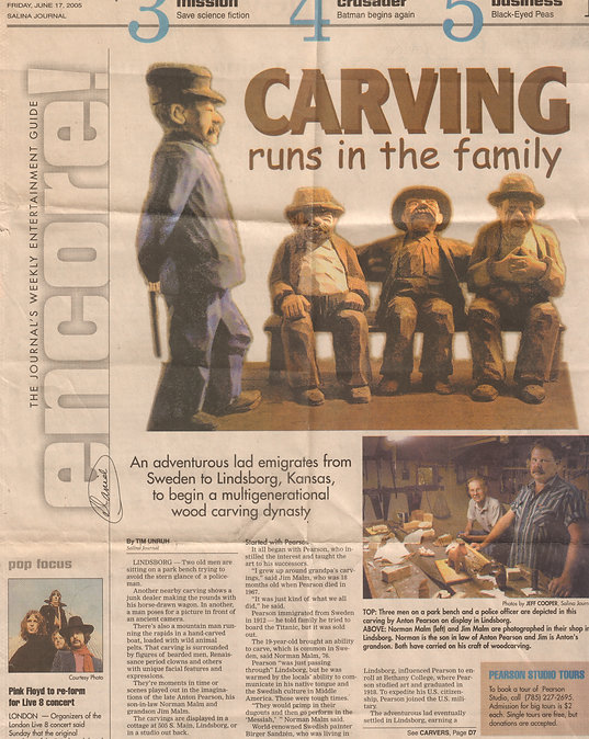 Anton Pearson family article