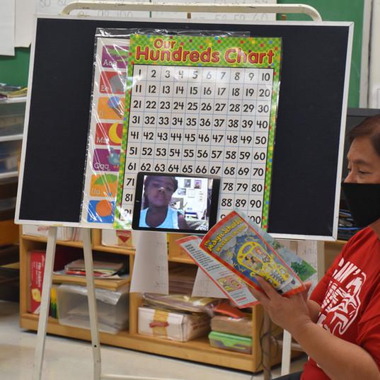 1st-grade teacher during story time.