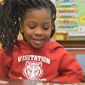 Pre-K student learning to count