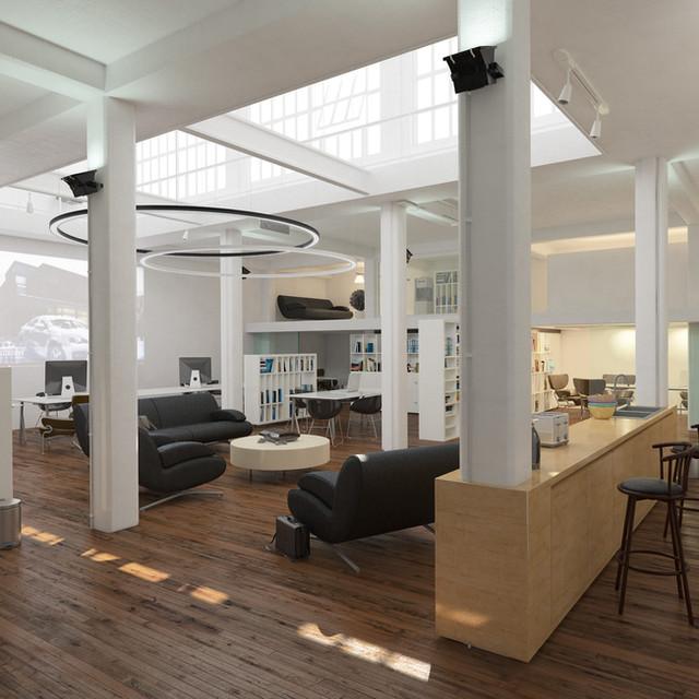 In großen Räumen schaffen Sie kleine Inseln der Begegnung und unsere Ringleuchte beleuchtet diesen Bereich professionell