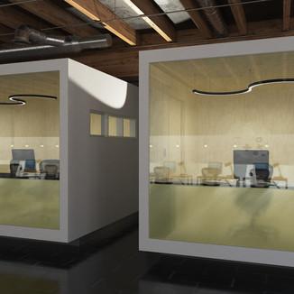 Lichtdesign in Büroräumlichkeiten mit Matrix Free.